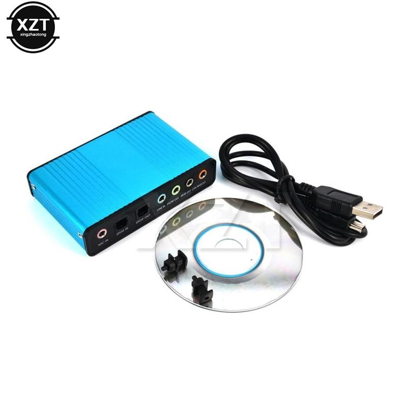 Placa de som externa usb 5.1, interface de áudio 3.5mm cm6206 para computador notebook microfone