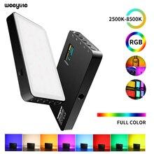 VILTROX miniluz LED de vídeo para estudio fotográfico Luz de relleno portátil, con batería integrada, RGB 2500 8500K, para cámara de teléfono