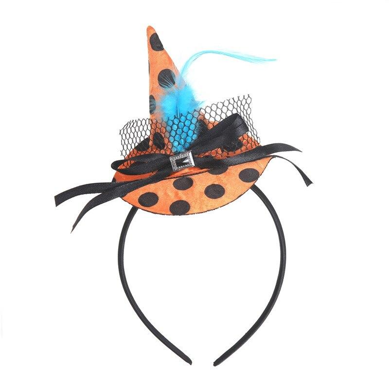 New Mini Witch Hat Headband Halloween Headbands For girls Fancy Dress Props Cosplay Party Gifts Headwear Kids 30Jul3103