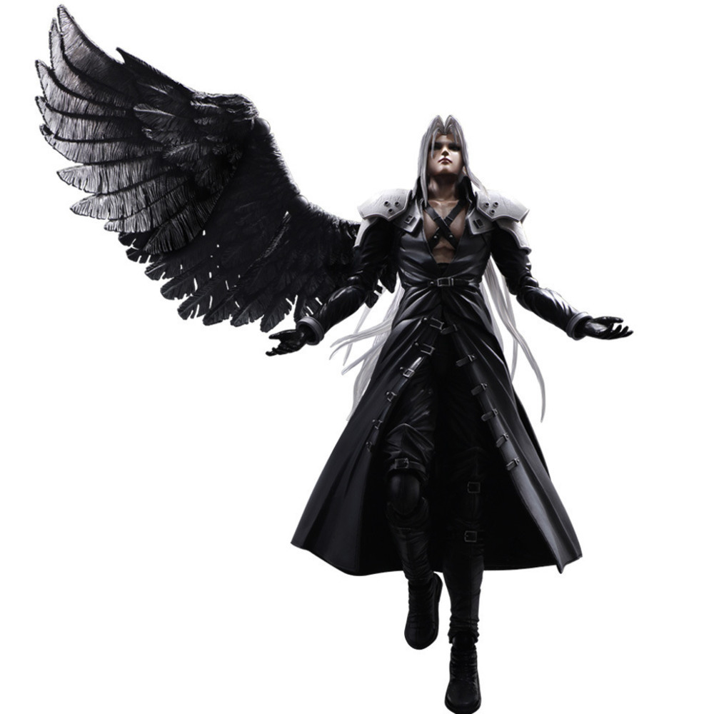 Play Arts PA KAI Final Fantasy VII FF7 Sephiroth With Wings Cloud Strife Action Figure PVC 29cm Movie Model Collection Toys