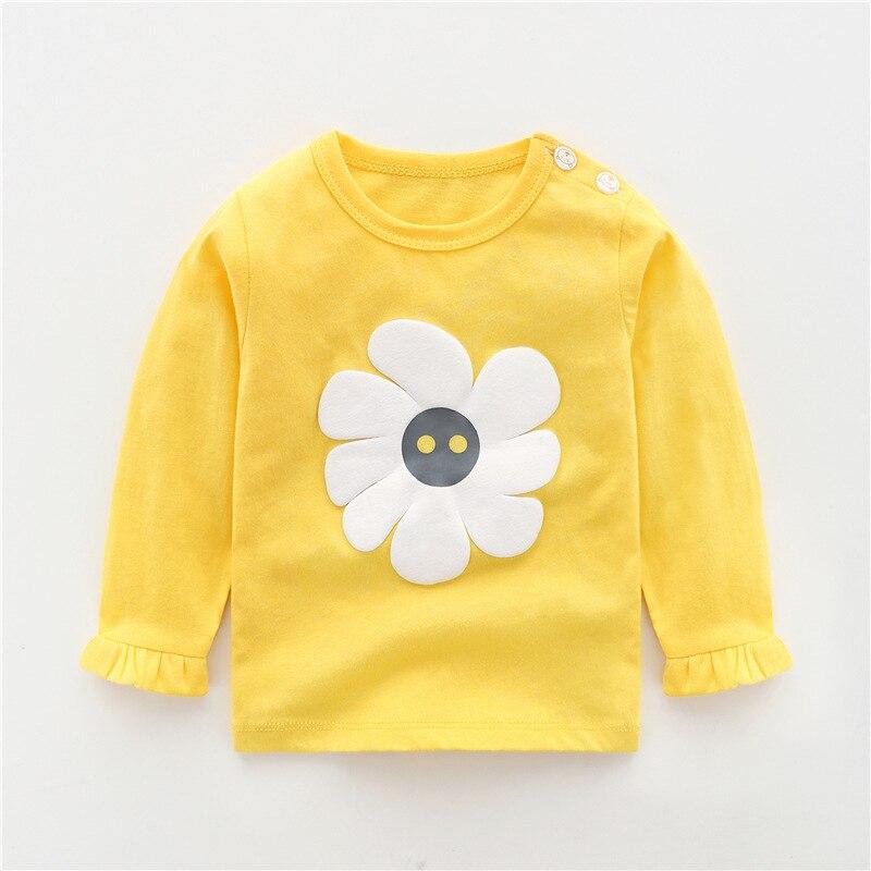 Autumn Baby Girls Boys Cotton Infants Tops Long-sleeved T-shirts Winter Toddler Casual Cartoon T Shirt Newborn Clothing Tshirt