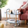 Простая Скандинавская коляска для хранения в гостиной  передвижной Маленький журнальный столик  диван  боковые столы для дома  многофункци...