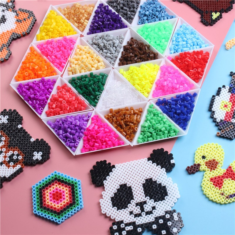 New 1000PCS/Bag Perler Beads 3D Puzzle Toy 5mm Hama Beads Educational Toys For Children Fuse Bead Kid's Gift Oyuncak