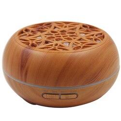 Drewna ziarna ultradźwiękowe zapachowy olejek eteryczny dyfuzor z Bluetooth bezprzewodowy głośnik do muzyki zegar aromaterapia nawilżacz powietrza 300Ml w Nawilżacze powietrza od AGD na