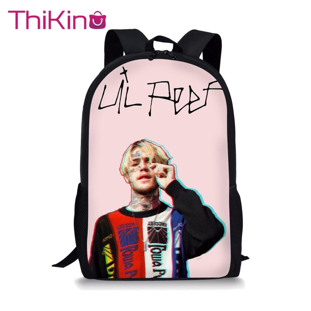 Thikin School Bags For Girls The Singer Lil Peep School Backpack For Kid School Supplies For Girls Shoulder Bag Children Mochila