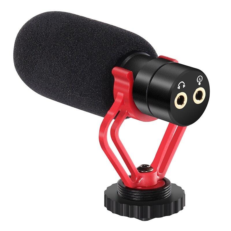 Суперкардиоидный направленный конденсаторный микрофон для камеры, микрофон с шумоподавлением для видеокамер Sony, Nikon, Canon, Fuji, DSLRs