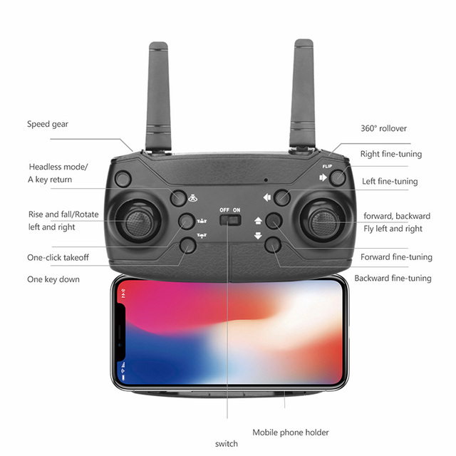 S32T Mini Drone RC Quadcopter With 4K HD ESC Camera Wide-Angle Professional Aerial Photography 360° Roll Helicopter Kids Gift 6