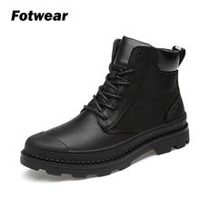Men genuine leather boots Men casual Lace up shoes Tough man style Work Ankle Shoes Chelsea Boots Designer Leather footwear round toe man monk straps chelsea shoes british designer genuine leather handmade footwear formal men s martin ankle boots js35