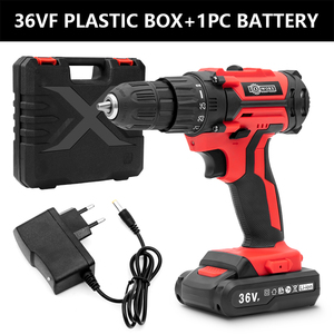 36VF Cordless Drill Electric Screwdriver Mini Wireless Power Driver DC Lithium-Ion Battery 3/8-Inch