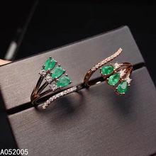 Женское кольцо из серебра 925 пробы с натуральным регулируемым