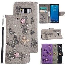 Luxury Butterfly Flip Case For Samsung