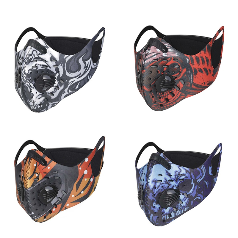 2020 Face Mask Breathable Mouth Masks Protection Outdoor Anti-virus Skull Printed Windproof Masks