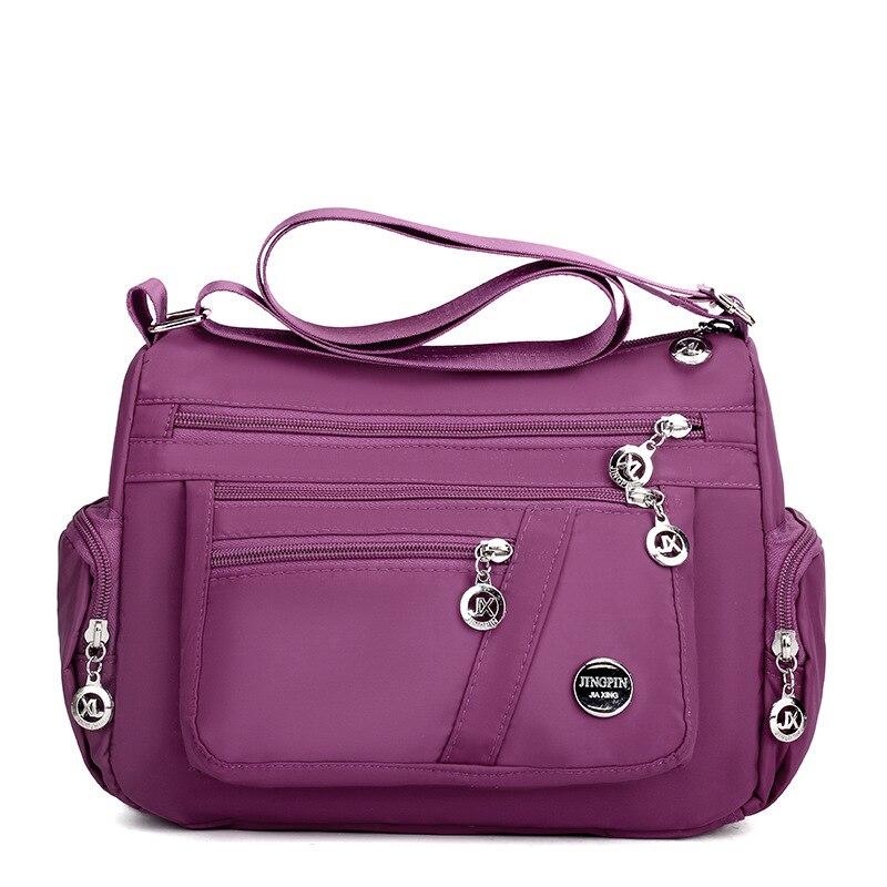 2020 модная женская сумка-мессенджер через плечо, нейлоновая оксфордская Легкая водонепроницаемая сумка на молнии, Вместительная дорожная с...