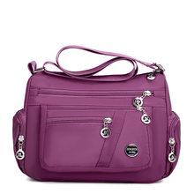2020 Mode Vrouwen Schoudertas Messenger Bag Nylon Oxford Lichtgewicht Waterdichte Rits Pakket Grote Capaciteit Reizen Crossbody Tas