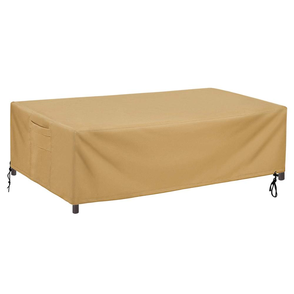 Sunkorto couverture de Table de Patio rectangulaire, couverture de Table imperméable et résistant aux UV, 2 tailles au choix