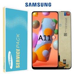 Оригинальный ЖК-дисплей для samsung A11 ЖК-дисплей сенсорный экран с рамкой для Samsung A115F A115F/DS ЖК-дисплей запасные части для ремонта