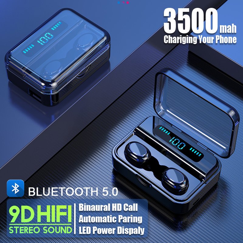 HIFI 9D Bluetooth 5.0 écouteurs écouteurs tws sans fil écouteurs fone de ouvido écouteurs casques avec batterie externe pour Smartphone