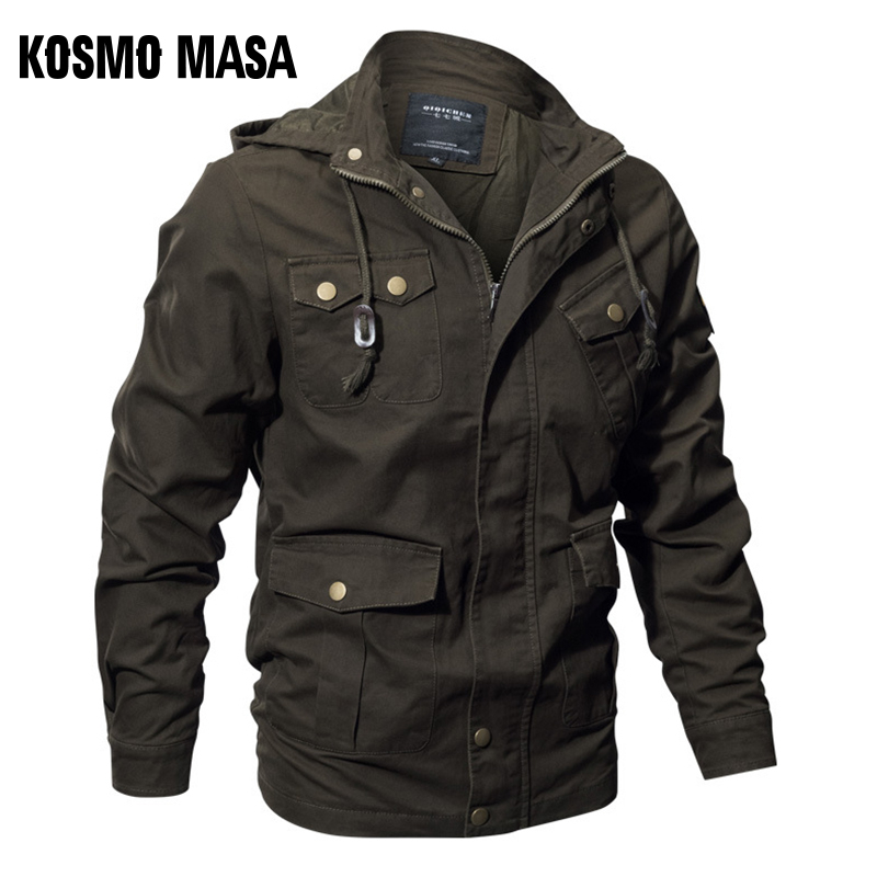 KOSMO MASA Cotton Bomber Jacket Mens Windbreaker Army Military 6XL Spring Autumn Casual Men's Coats And Jackets For Men MJ0093