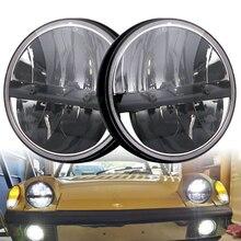 7 inch40W Round LED Headlight daymarker sealed beam Headlamp For jeep Wrangler JK Land Rover Defender HummerH1 7 universal round led headlight bulb 7 inch white angel eye for jeep wrangler jk hummer led headlamp with drl h l beam