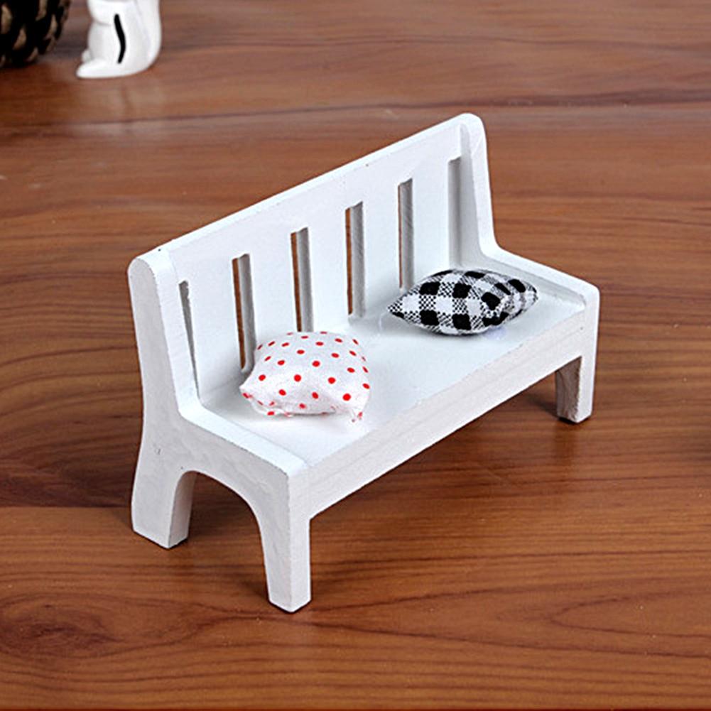 Современные Простые миниатюрные деревянные подушки детские кукольный домик украшения для домашнего сада мебель аксессуар 10,5*5*7 см