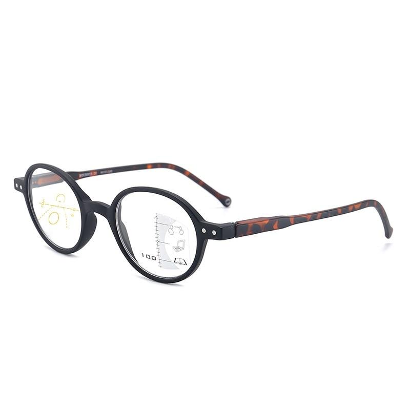 Модные круглые прогрессивные очки для чтения женщин и мужчин