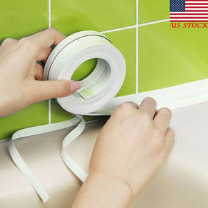 Waterproof Mold Proof Adhesive Tape Durable Use 1 ROLL PVC Material Kitchen Bathroom Wall Sealing Tape Gadgets(China)