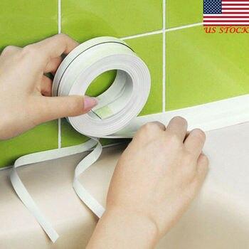3.2m x 38mm łazienka prysznic zlew wanna taśma uszczelniająca taśma uszczelniająca samoprzylepna wodoodporna naklejka ścienna do łazienki kuchnia