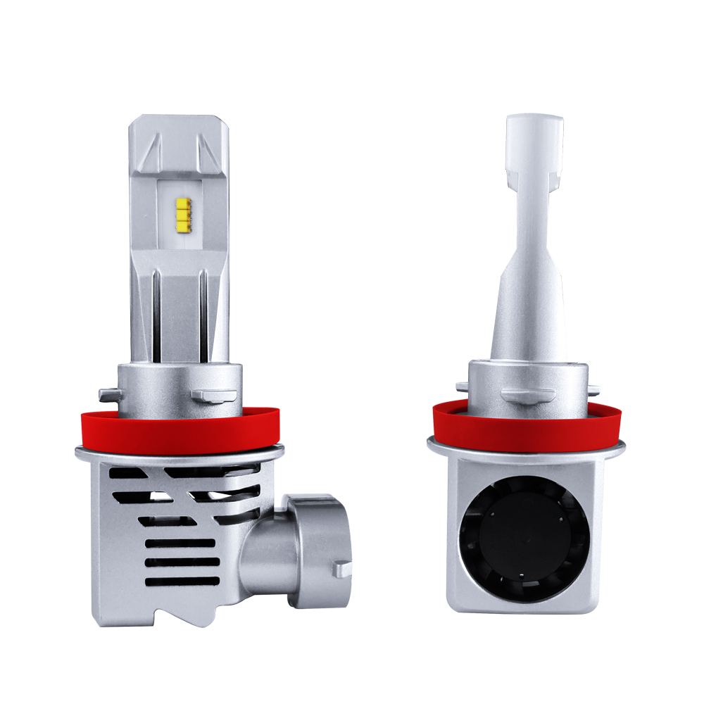 1Set MINI SIZE ZES CHIPS 9005 HB3 M3 LED Headlight SMALL 1:1 Bulb Cutting Line Clear Beam Turbo Fan 60W 10000LM 6K LUMILED LAMPS