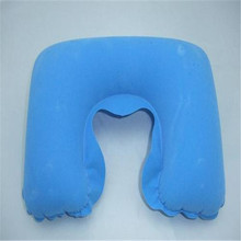 1* Inflatable U-Shape Neck Pillow Travel Rest Air Cushion For Airplane