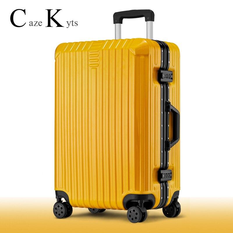 fashion trolley luggage set business suitcase Sliding Silent Wheel Travel Luggage bag carry on luggage suitcases free shipping