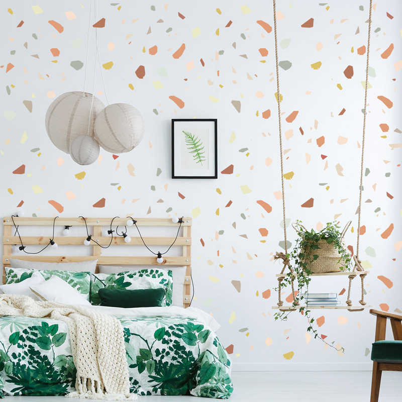 Diy Creative Colorful Stones Wall Sticker Nordic Concise Style Vinyl Kids Living Room Bedroom Mural Decal Fridge Decoration Wall Stickers Aliexpress