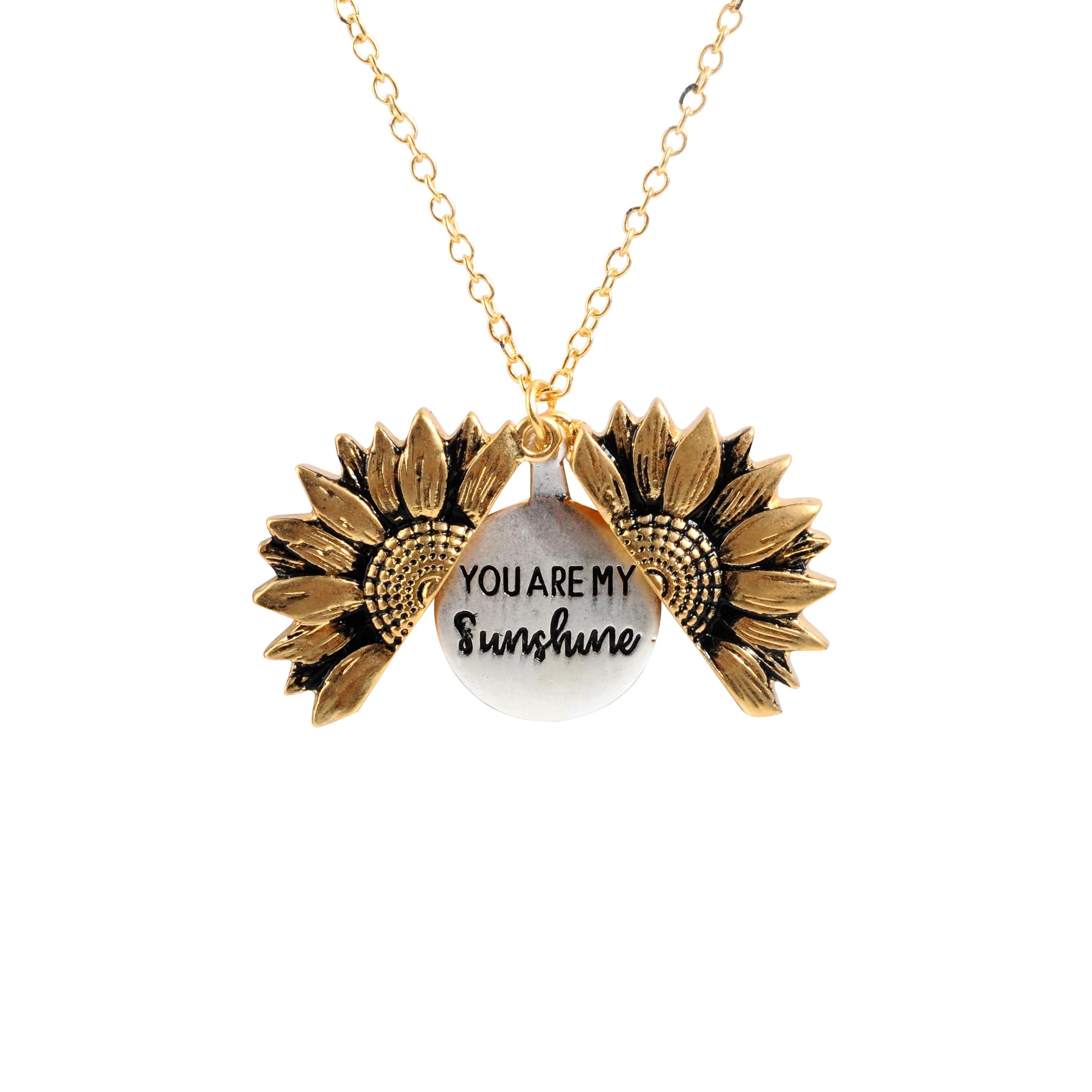 Модное богемное Двухслойное металлическое ожерелье с подвеской в виде подсолнуха для женщин, круглое открытое длинное ожерелье-цепочка ве...