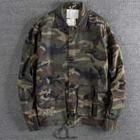 US Style Name Brand Camouflage Mens Jacket and Coats Spring Autumn European Style Loose Casual Workwear Military Streetwear B717