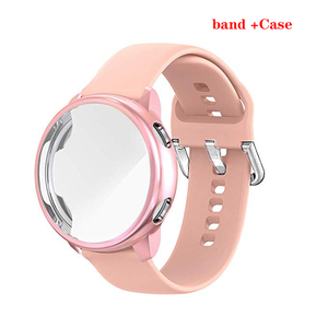 Case+strap for Samsung Galaxy Watch Active 2 44mm 40mm Smart Watch Silicone band +Case cover Galaxy Watch Active2 Full coverage