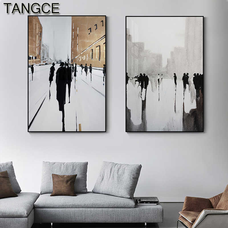 Abstract Nordic Style Painting Wall Art Posters Print For Living Room Restaurant