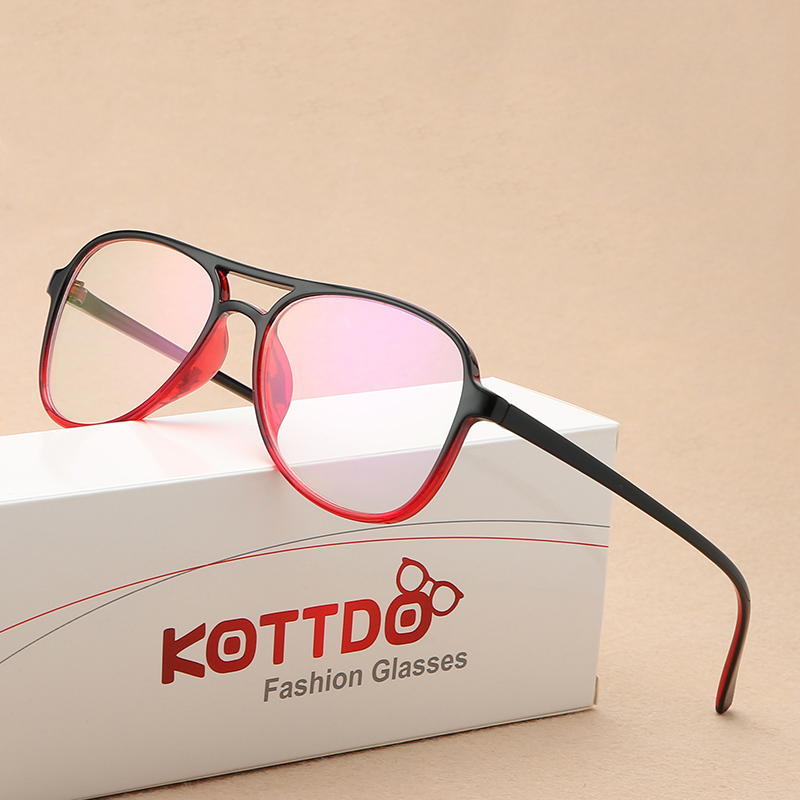 KOTTDO Square Mens Eyeglass Frame Transparent Eyeglasses Frame Men Women Retro Reading Glasses Art Computer Glasses Frame