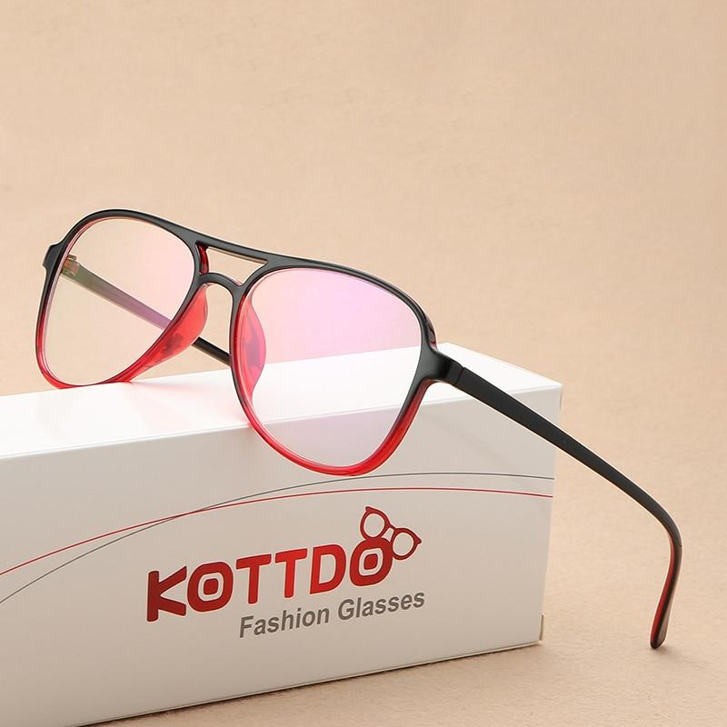 KOTTDO Square Mens Eyeglass Frame Transparent Eyeglasses Frame Men Women Retro Reading Glasses Art Computer Glasses Frame