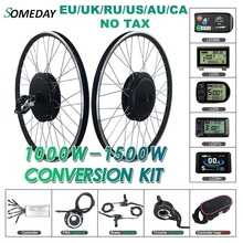 Algum dia kit de conversão de bicicleta elétrica 48v1000w 1500w cassete traseira 20 28 polegada 700c roda do motor do cubo para a bicicleta