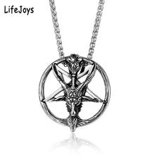 Baphomet Satan Necklace Satanic Jewelry Stainless Steel Luci