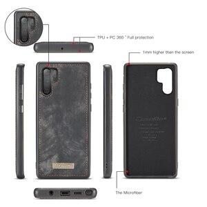 Image 5 - Voor Galaxy Note 10 Case Premium Koeienhuid Lederen Rits Afneembare Magnetische Wallet Cover Case voor Samsung Galaxy Note 10 Plus a50