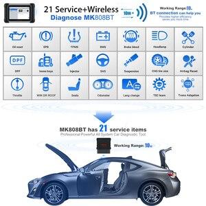 Image 2 - 2021 najnowszy Autel MaxiCOM MK808BT skaner OBD2 narzędzie diagnostyczne do samochodów Auto IMMO/EPB/SAS/BMS/TPMS/DPF ulepszona wersja MK808
