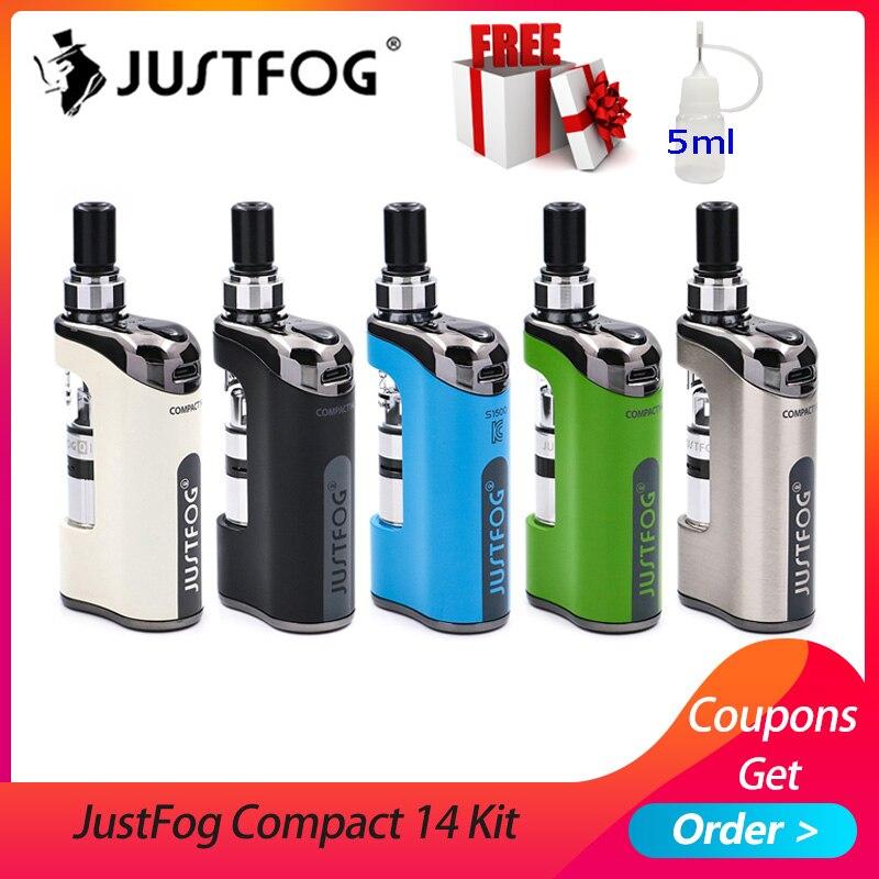 En stock E Cigarette JustFog Compact 14 Kit 1500mah batterie intégrée avec 5 pièces Justfog Bobine vs Justfog Q16/Q14 Kit