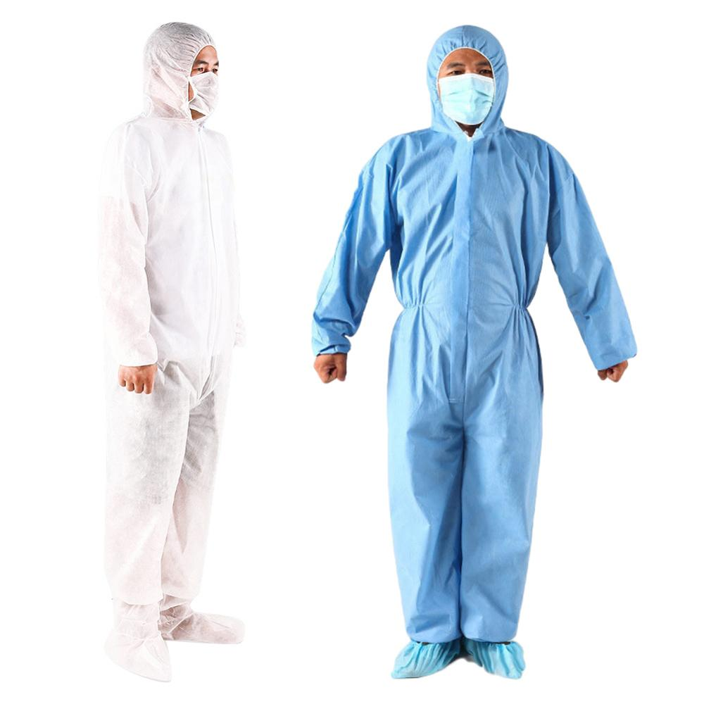 Unisex Disposable Non Woven Dustproof Isolation Gown Protective Overall Coverall Suit  Safety Clothing