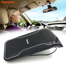 Sun visor Multipoint Wireless Bluetooth Handsfree Calling Car Kit Speakerphone Audio Music Speaker For Smartphones Flyaurora цены онлайн