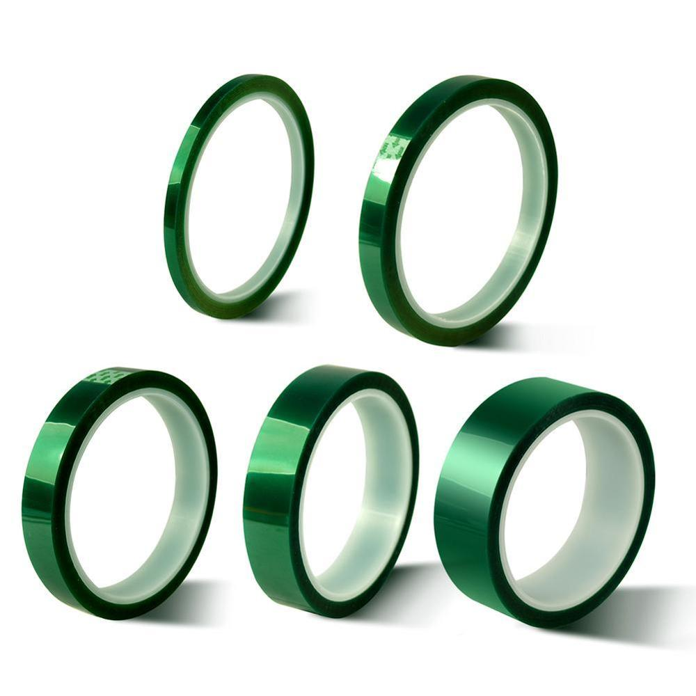 Green Pet Tape Heat-resistant PET High Temperature Shielding For PCB Solder Plating Insulation Protection 5mm/10mm/15mm/20mm/30