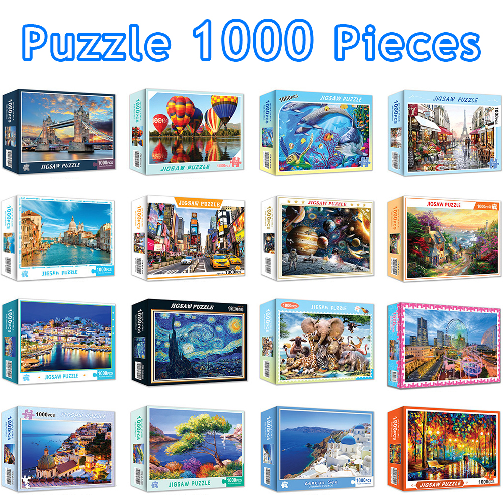 Jigsaw Puzzles 1000 Pieces Adults 50*70 Cm Landscape Assembling Picture Puzzles Toys For Adults Children Kids Games Educational