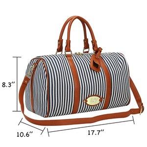 Image 3 - Modoker Große Schwarz Weiß Gestreiften Frauen Reisetasche Organizer Casual Outdoor Teenager Gepäck Tasche Seesack mit Zipper Paket