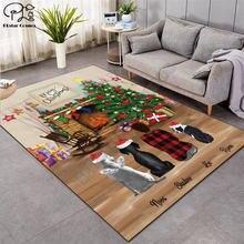 Свадебная Рождественская мода мягкие фланелевые коврики с 3d