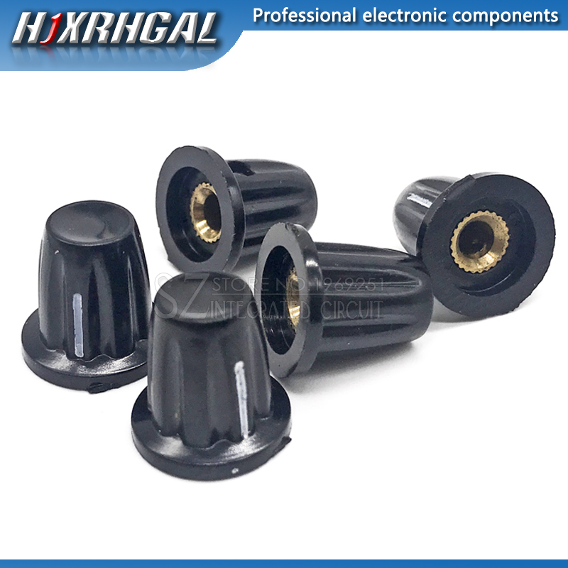 1PCS Bakelite Potentiometer Knob Hole: 4MM For WH5 WXD3-13 K17-01 Potentiometer Hjxrhgal