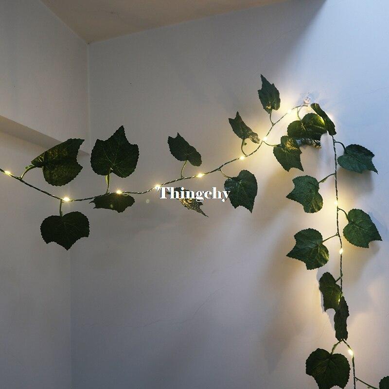 Luzes de fadas da guirlanda da folha